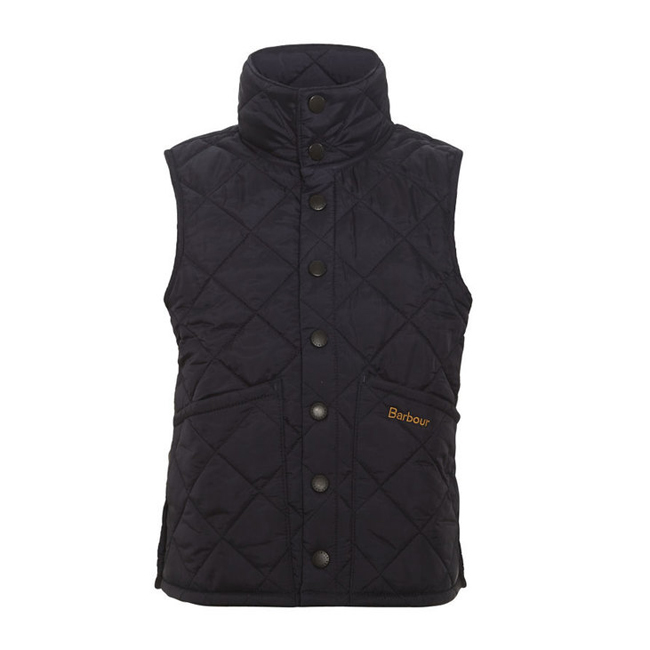 Cheap Barbour Boys Navy LIDDESDALE QUILTED GILET Online