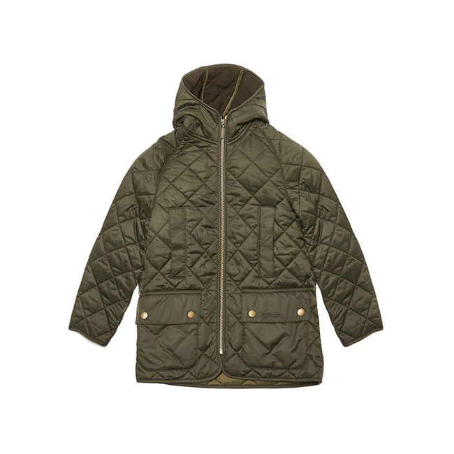 Cheap Barbour Boys Sage BORDER LIDDESDALE QUILTED JACKET Online