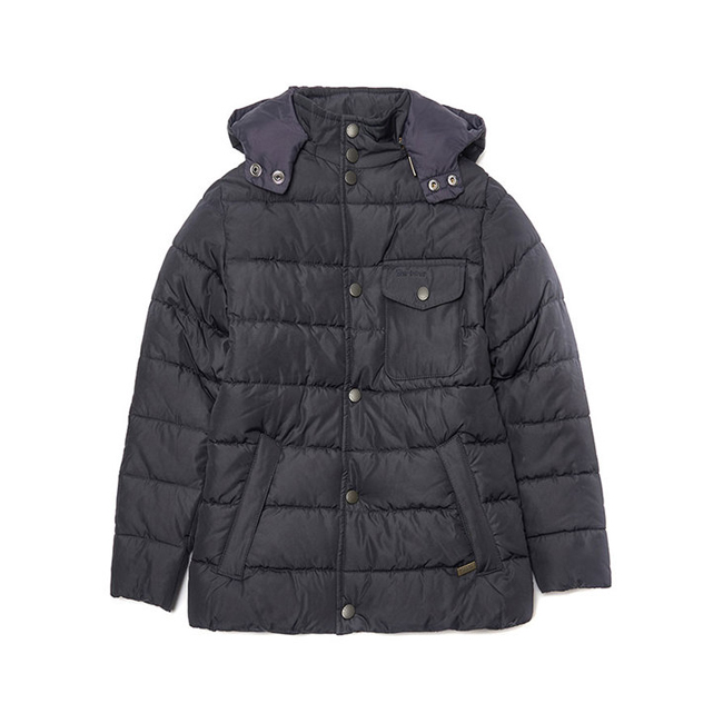 Barbour COWL QUILTED JACKET Boys Navy Outlet Store