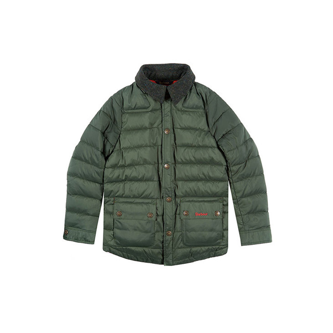 Cheap Barbour Boys Racing Green LANDAN QUILTED JACKET Online