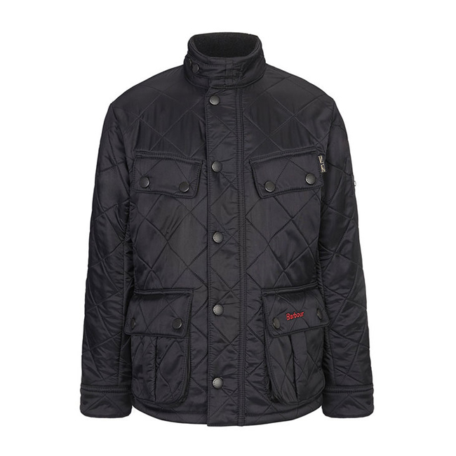 Barbour ARIEL POLARQUILT QUILTED JACKET Boys Black  Outlet Store