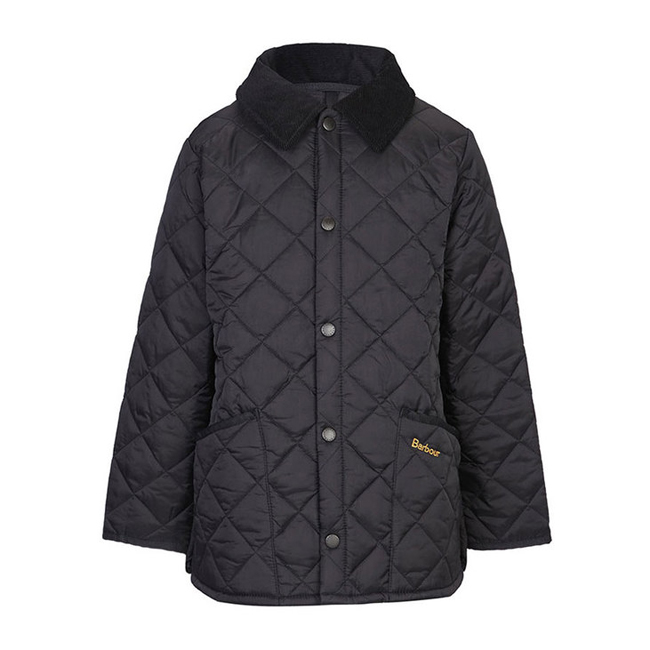 Barbour LIDDESDALE QUILTED JACKET Boys Black Outlet Store