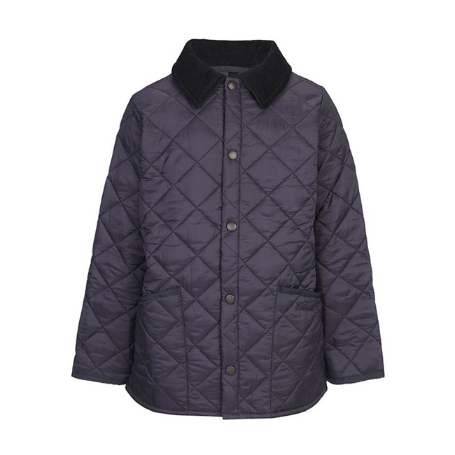 Cheap Barbour Boys Navy LIDDESDALE QUILTED JACKET Online