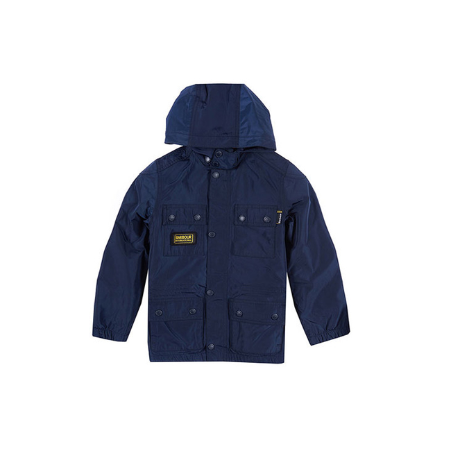 Cheap Barbour Boys Navy NYLOC WATERPROOF JACKET Online