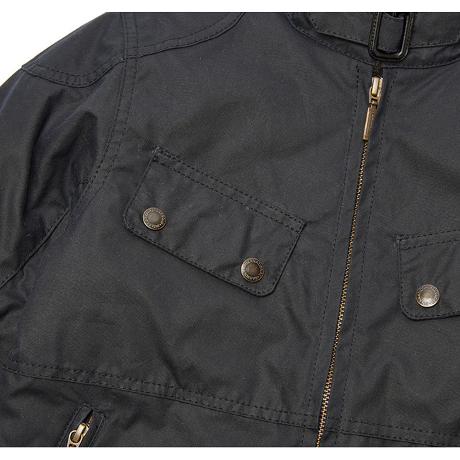 Cheap Barbour Boys Navy B.INTL REBEL WAX JACKET Online