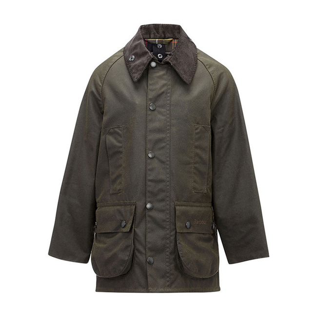 Barbour CLASSIC BEAUFORT WAX JACKET Boys Olive Outlet Store