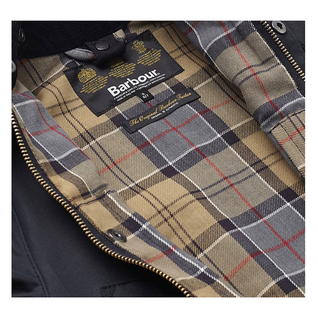 Barbour CLASSIC BEDALE WAX JACKET Boys Navy Outlet Store