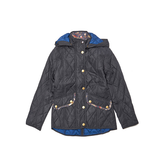 Cheap Barbour Girls Navy IMPELLER QUILTED JACKET Online