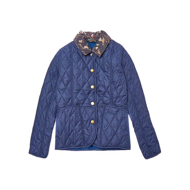 Barbour PANSY QUILTED JACKET Girls Royal Blue Outlet Store