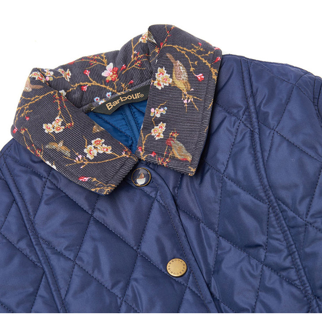 Cheap BARBOUR GIRLS PANSY QUILTED JACKET Royal Blue Sale