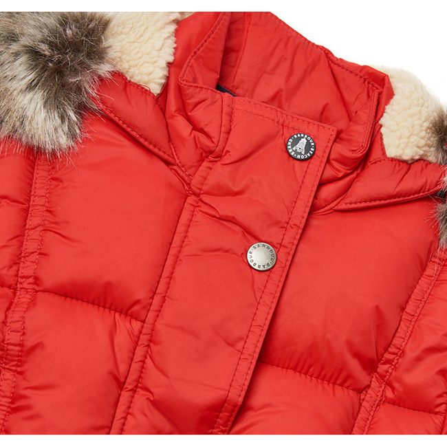 Cheap Barbour Girls Lighthouse Red ICEFIELD QUILTED JACKET Online
