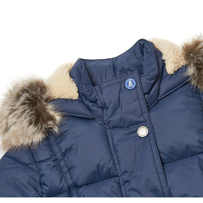 Barbour ICEFIELD QUILTED JACKET Girls Royal Navy Outlet Store