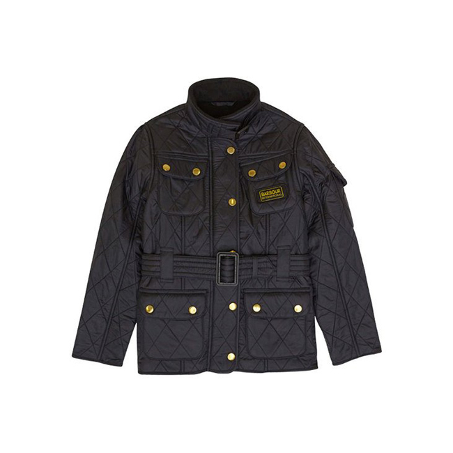 Barbour B.INTL POLARQUILT QUILTED JACKET Girls Black/Black Outlet Store