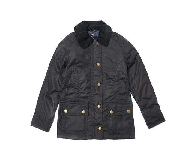 Barbour RANNOCH BEADNELL WAX JACKET Girls Navy Outlet Store