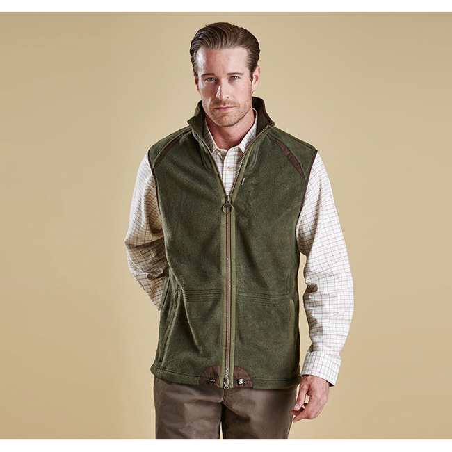 Cheap Barbour Men Olive LANGDALE GILET Online