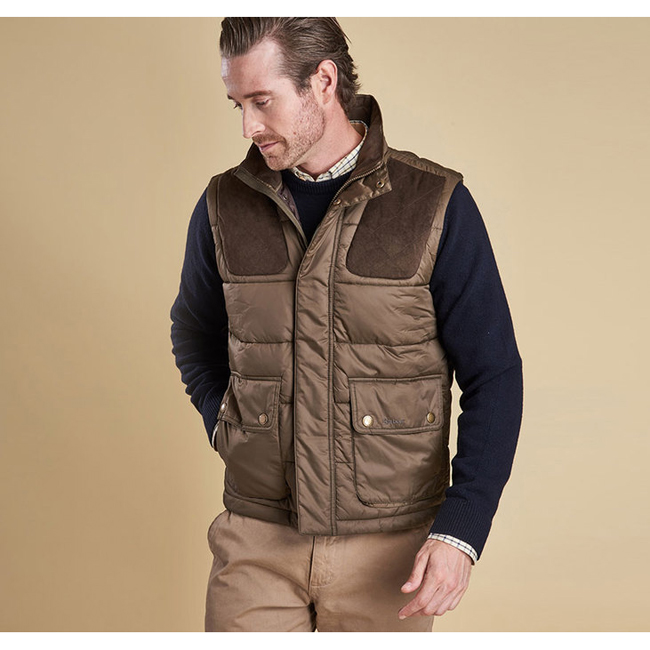 Cheap Barbour Men Olive COLWARMTH QUILTED GILET Online