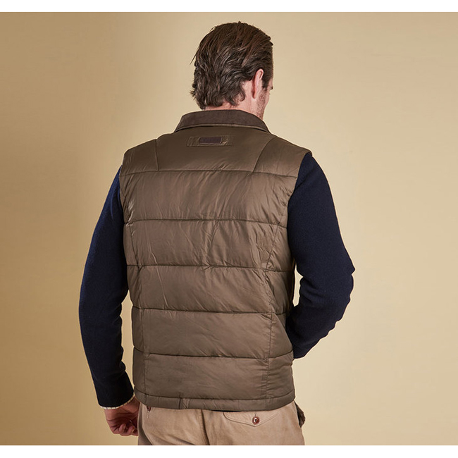 Barbour COLWARMTH QUILTED GILET Men Olive Outlet Store