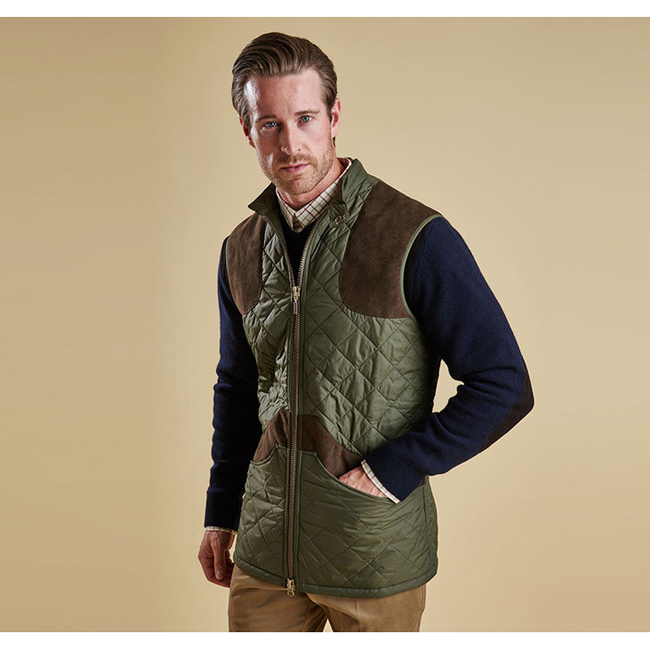 Barbour BREARTON GILET Men Olive Outlet Store
