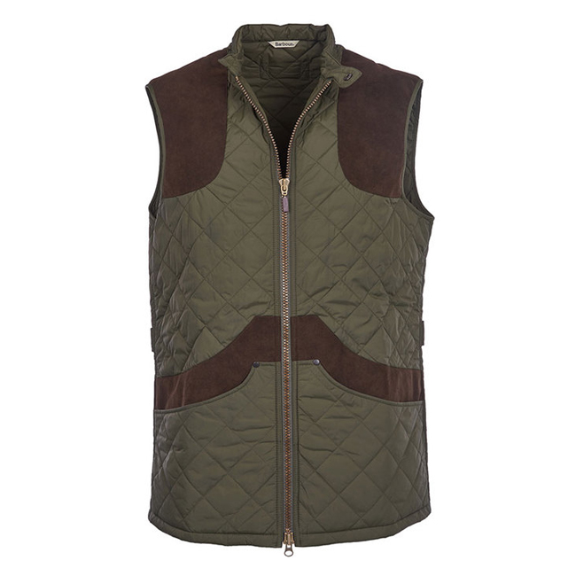 Cheap BARBOUR BREARTON GILET Olive Sale