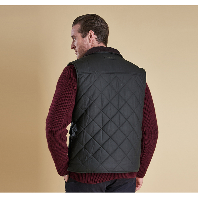 Barbour BOXLEY QUILTED GILET Men Olive Outlet Store