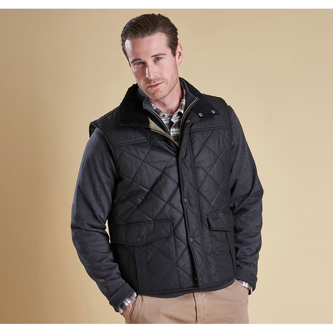 Cheap Barbour Men Black BOXLEY QUILTED GILET Online