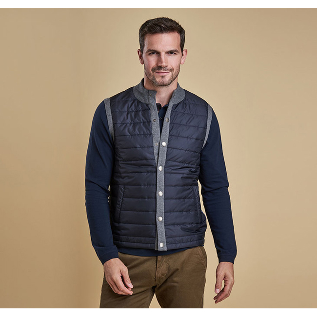 Cheap Barbour Men Mid Grey ESSENTIAL GILET Online