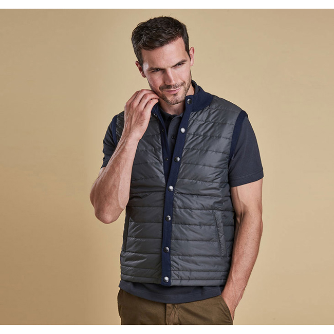 Cheap BARBOUR ESSENTIAL GILET Navy Sale