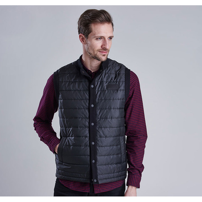 Cheap Barbour Men Black B.INTL BAFFLE GILET Online