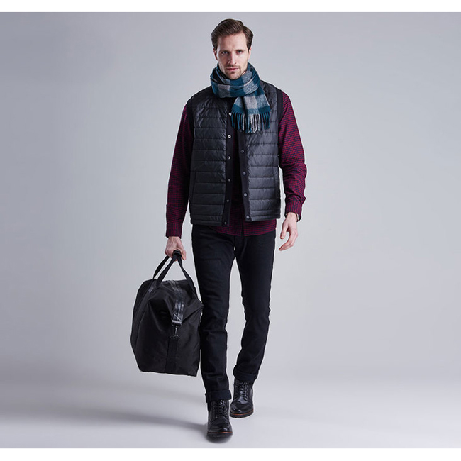 Barbour B.INTL BAFFLE GILET Men Black Outlet Store