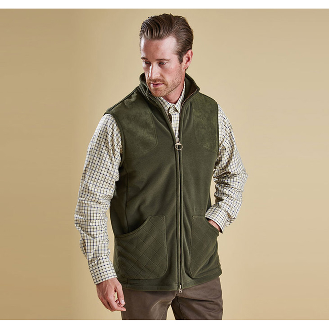Cheap Barbour Men Olive DUNMOOR GILET Online