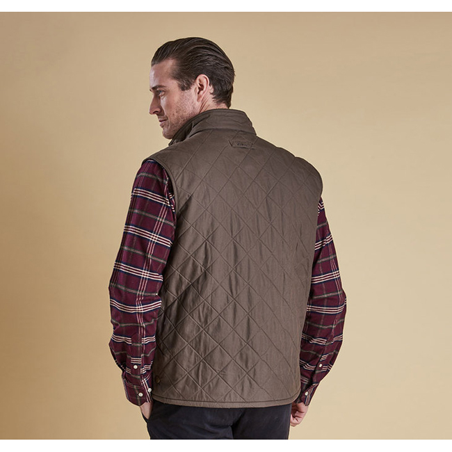 Barbour REDSHORE QUILTED GILET Men Olive Outlet Store