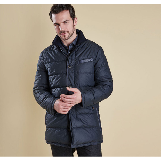 Barbour OPERATIVE QUILTED JACKET Men Navy Outlet Store