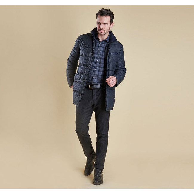 Cheap BARBOUR OPERATIVE QUILTED JACKET Navy Sale