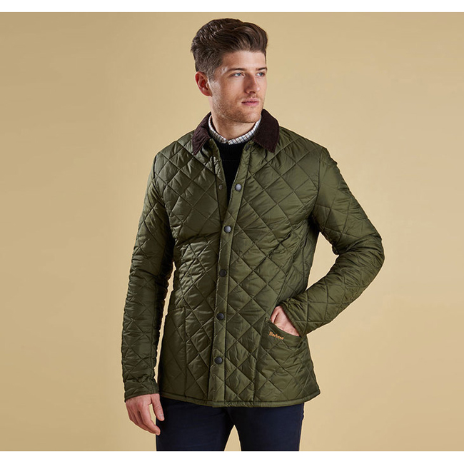 Cheap Barbour Men Olive HERITAGE LIDDESDALE QUILTED JACKET Online
