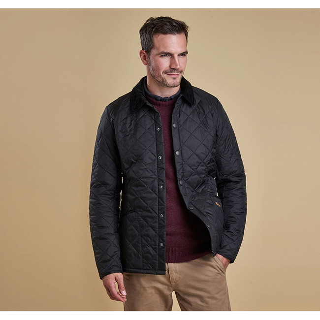 Cheap Barbour Men Black HERITAGE LIDDESDALE QUILTED JACKET Online