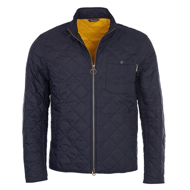 Cheap Barbour Men Navy B.INTL AXLE QUILTED JACKET Online