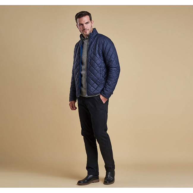 Barbour ROWLOCK QUILTED JACKET Men Navy Outlet Store