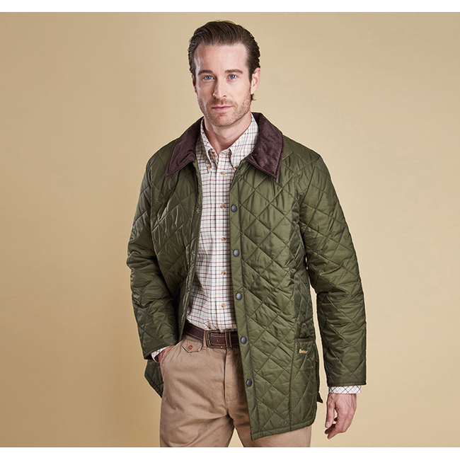 Cheap Barbour Men Olive LIDDESDALE QUILTED JACKET Online