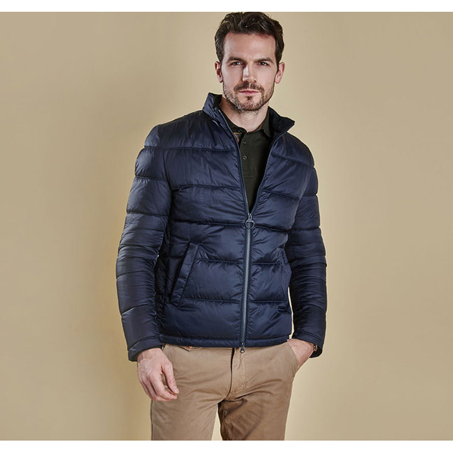 Cheap Barbour Men Navy LEVEN QUILTED JACKET Online