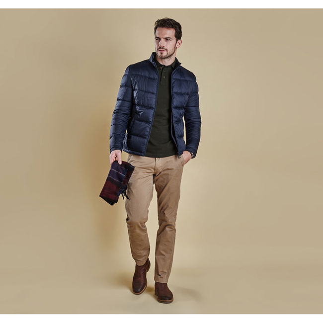 Cheap BARBOUR LEVEN QUILTED JACKET Navy Sale