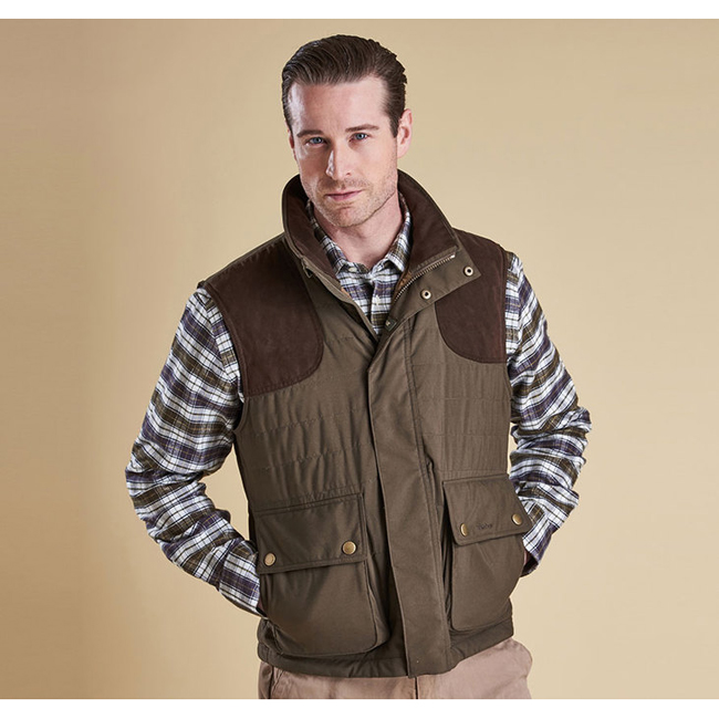 Barbour AVOCET QUILTED JACKET Men Dark Olive Outlet Store