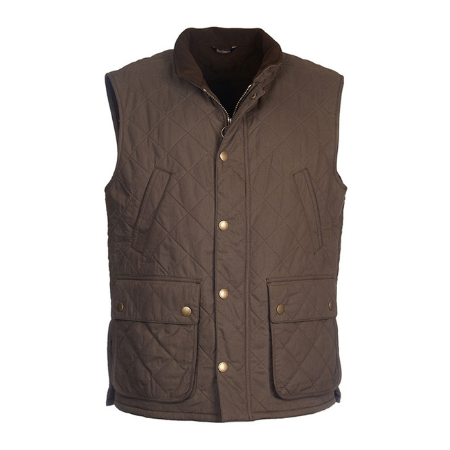Cheap BARBOUR REDSHORE QUILTED GILET Olive Sale