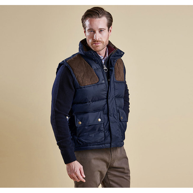 Cheap Barbour Men Navy COLWARMTH QUILTED GILET Online