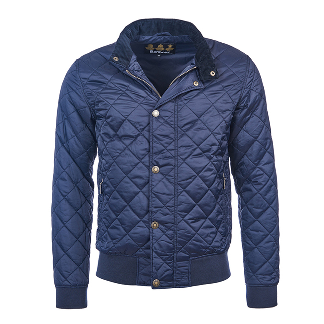 Cheap Barbour Men Navy MOSS QUILTED JACKET Online