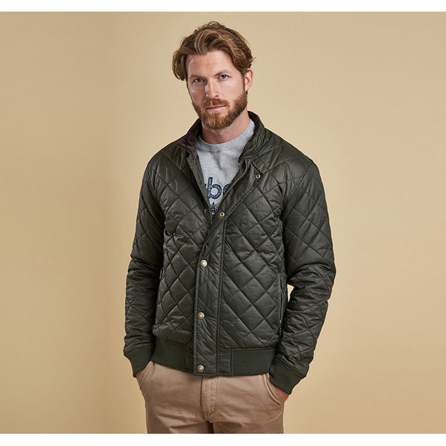 Cheap BARBOUR MOSS QUILTED JACKET Sage Sale