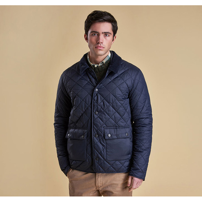 Cheap Barbour Men Navy ANWOTH QUILTED JACKET Online