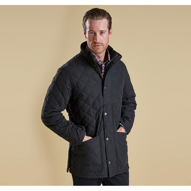 Barbour HAMPTON QUILTED JACKET Men Black Outlet Store