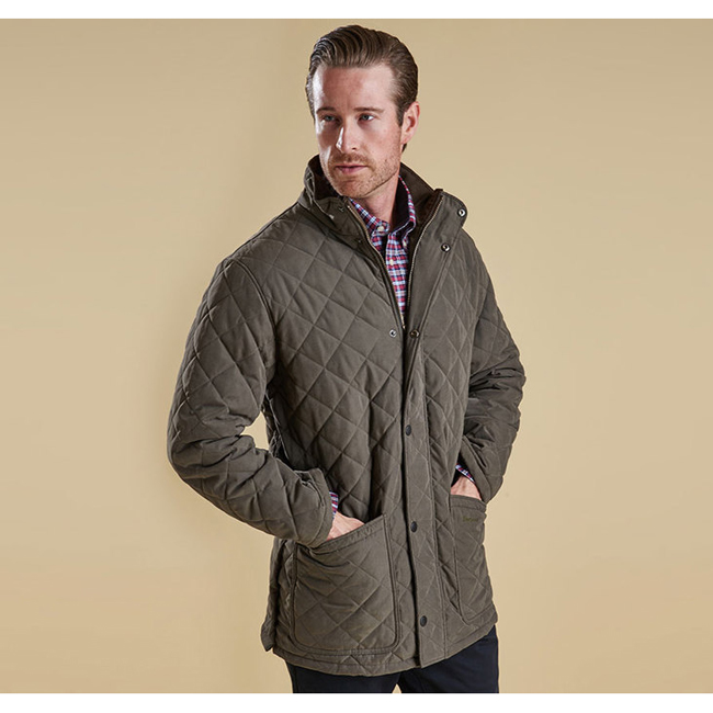 Cheap Barbour Men Forest Green HAMPTON QUILTED JACKET Online