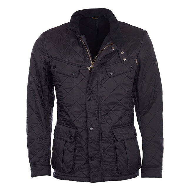 Cheap Barbour Men Black B.INTL ARIEL POLARQUILT JACKET Online