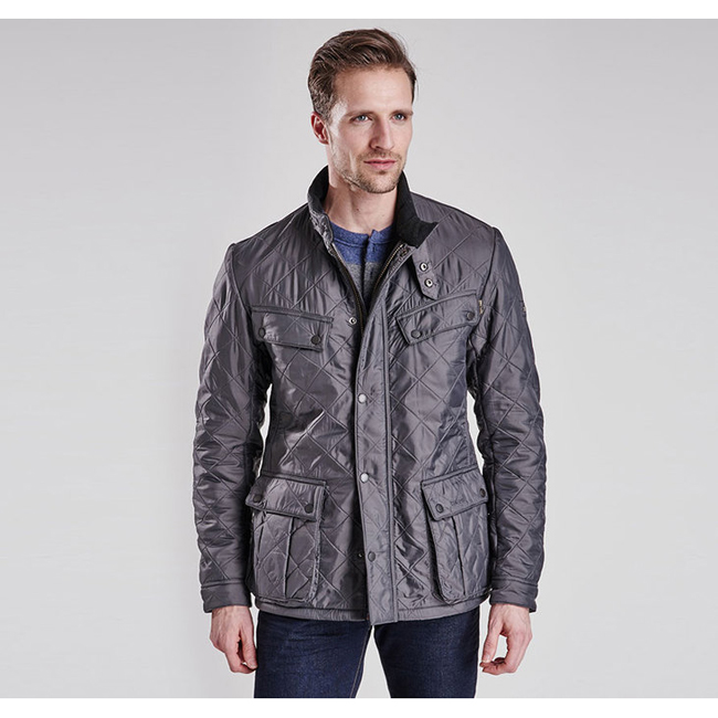Barbour B.INTL ARIEL POLARQUILT JACKET Men Charcoal Outlet Store